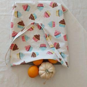 Reusable Shopping Bag Tote Cupcake Design NWT